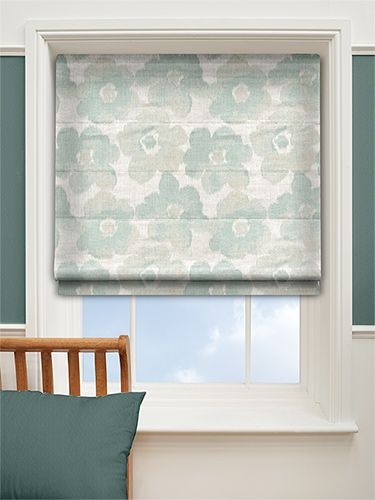 Buttercups Duck Egg Roman Blind from Blinds 2go