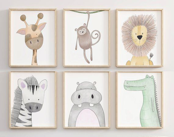 Safari Nursery Prints Animal Nursery Wall Art Nursery Print Set Peekaboo Nursery Safari Animal S Safari Kinderzimmer Kinderzimmer Dekor Kinderzimmer Kunst