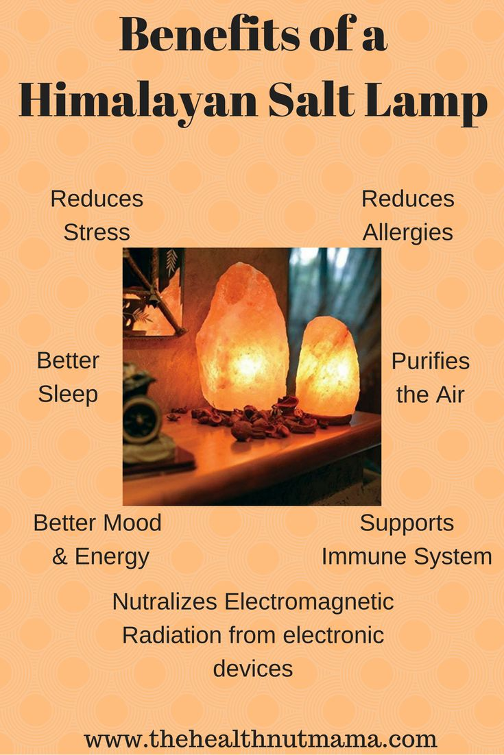 Amazing Benefits of Himalayan Salt Lamps! I love them so much I have them in every room. Even the powder room! (#affiliate) www.thehealthnutmama.com