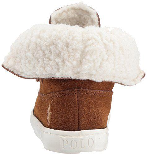 Polo Ralph Lauren Kids Girls' Siena Bootie Sneaker, Snuff Suede, 5 Medium US Toddler