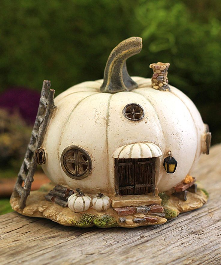 Love this White Pumpkin Fairy House Décor by Top Collection on #zulily! #zulilyfinds