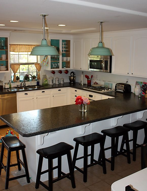Love The Lights And The Wilsonart Laminate Countertop That Looks Like Granite