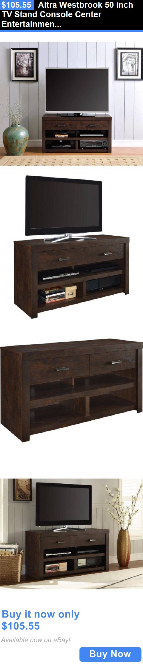 Entertainment Units TV Stands: Altra Westbrook 50 Inch Tv Stand Console Center Entertainment Furniture Home BUY IT NOW ONLY: $105.55