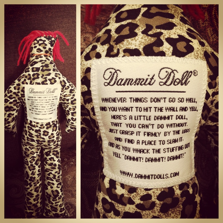 how to make a wool dammit doll