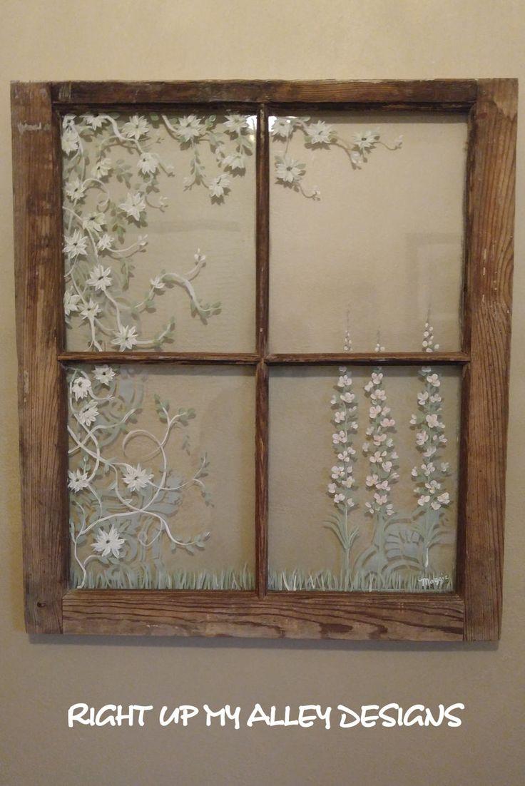 Painted old windowOld painted windowWindow artantique