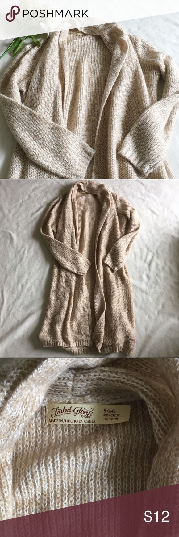 Faded Glory Soft Maxi Cardigan In like new condition. This cardi is extra long and extra soft! Faded Glory Sweaters Cardigans