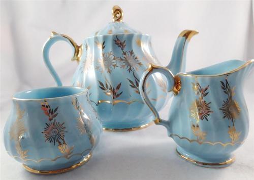 Vintage Sadler England Teapot Creamer Sugar 3048 England