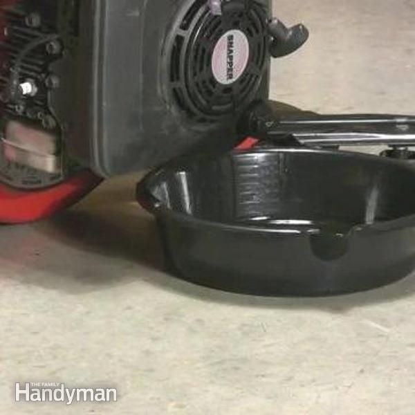 The Family Handyman automotive expert, Rick Muscoplat, will show you how to change oil in your push lawn mower.