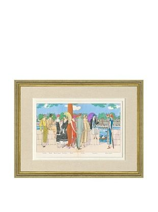 60% OFF Art Gout Beaute Fashion Illustration Rowing Race by Patou, Lanvin, Doeuillet