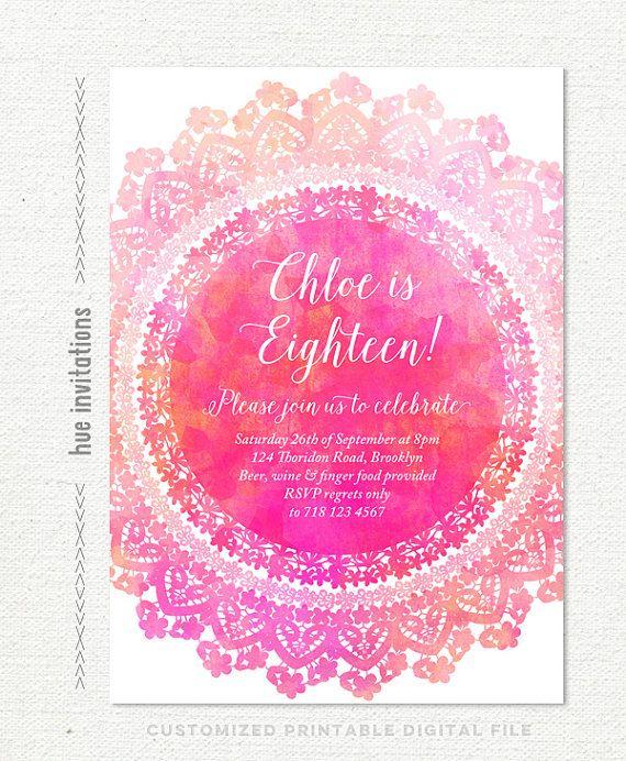 Best Teen Birthday Invitations Ideas On Pinterest Birthday - Birthday invitation card for teenage
