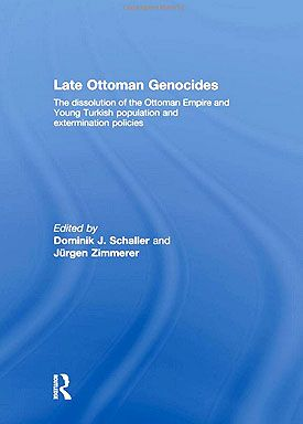LATE OTTOMAN GENOCIDES: The dissolution of the Ottoman Empire and Young Turkish population and extermination policies. Edited by: Dominik J. Schaller and Jürgen Zimmerer Routledge, 2009. http://amzn.to/2dk14Q0