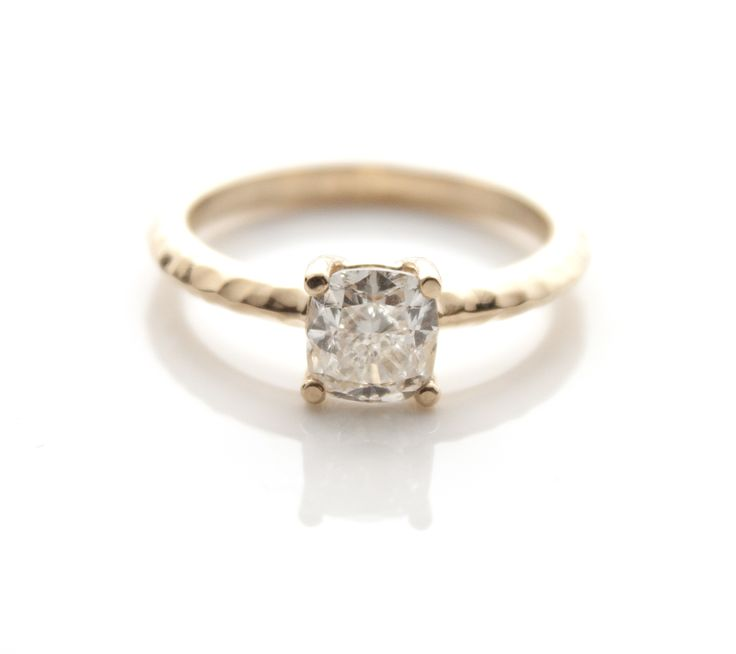Hammered Engagement Rings The