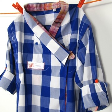 made of dad's shirt...use for kidscraft DIRECTEUR schort om lekker in te kleuren, verven en knutselen