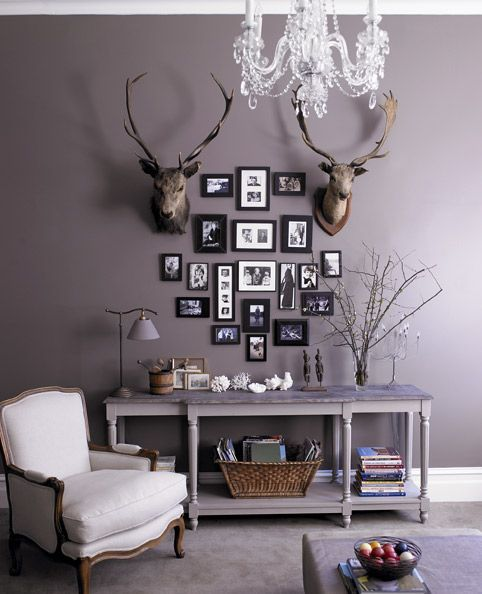Image result for decorating with deer heads