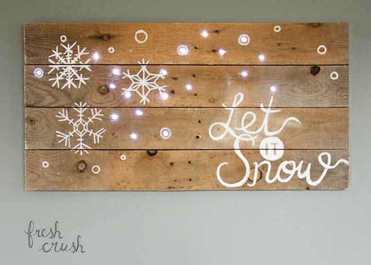Lighted Pallet Sign for Christmas