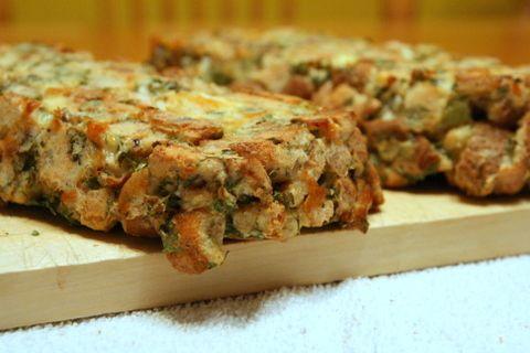 Savory Bread Pudding - (Bread, cheese, onion powder, sour cream. Made ...