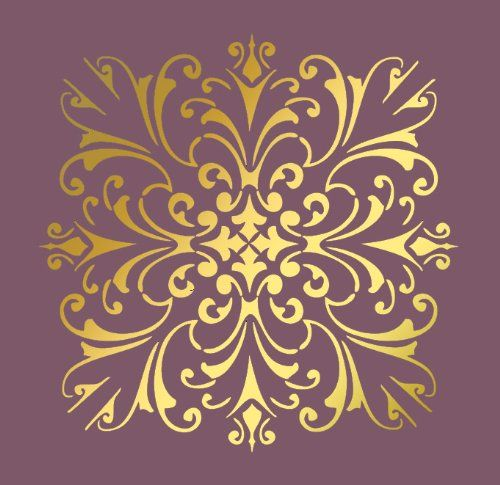 """Large Wall Damask Faux Mural Design #1020 Stencil Size 12"""" X 12"""", Pattern Size 11"""" X 11"""" Lightsforever,http://www.amazon.com/dp/B005UCWP1A/ref=cm_sw_r_pi_dp_exqktb01WGY0NJRZ"""
