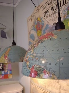 diggin' the use of globes!~: Idea, Schools Rooms, Lamps Shades, Boys Rooms, Globes Lights, Pendants Lights, Lampshade, Globes Lamps, Kids Rooms
