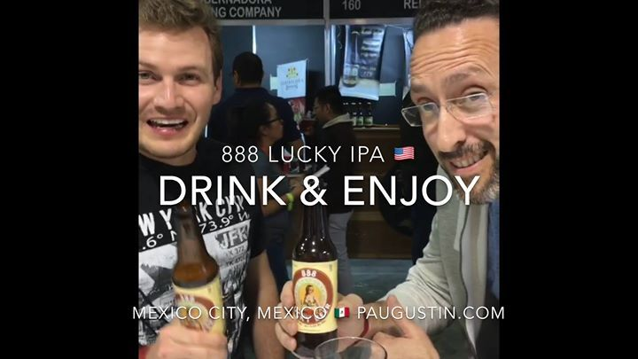 """888 LUCKY Beer or 888 LUCKY IPA named the """"BEST BEER"""" at 1) New York City USA ; 2) Annapolis Maryland USA 3) Stockholm Sweden Beers and 4) Mexico City Mexico  festivals by craft beers lovers in attendance check out video at http://ift.tt/2dZvGkD ; 888 Craft Beers Global  Tours : 1st Taipei Taiwan ; 2nd Shanghai China ; 3rd Chongqing China; 4th Costa Rica ; 5th London England ; 6th Stockholm Sweden ; 7th Berlin Germany ; 8th Mexico City Mexico ; 9th Nuremberg Germany; 10th Tokyo Japan…"""