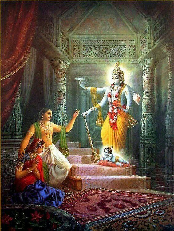 The birth of Lord Krishna