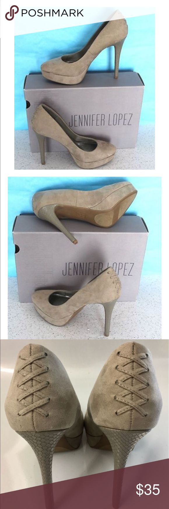 NWT Jennifer Lopez JLo Lucille High Heels Size 10 NWT Women's Jennifer Lopez JLo Lucille Grey High Heel Shoes Size 10 Jennifer Lopez Shoes Heels