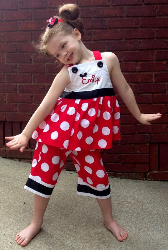 Custom Disney Minnie Mouse Monogrammed Dots Dress or Outfit