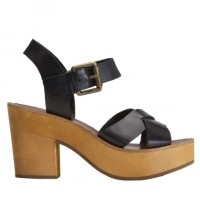 thick leather bands & chunky heels..#splendidsummer   from R29Shops