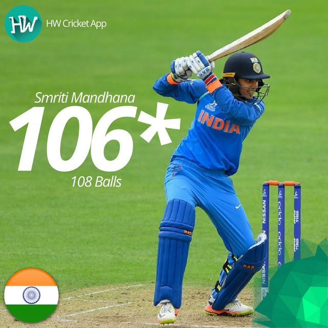Smriti Mandhana just gets better and better! She played yet another fantastic innings to take her team across the finish line! #WWC17 #WI #IND #cricket