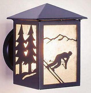Mountain Skier Lg. Ext. Wall Light