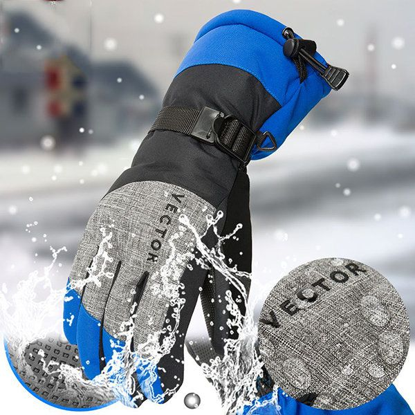 Mens Snowboard Ski Gloves Snowmobile Riding Anti-slip Winter Gloves Windproof Waterproof Gloves  men fashion accessories
