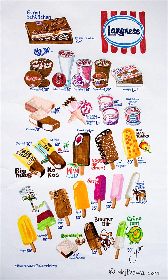 I love an ice cream, even in another language!!