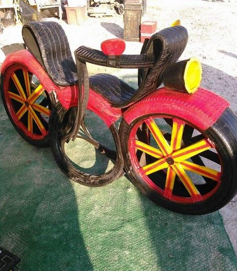 89 best images about idei din anvelope uzate on pinterest for Old tire art