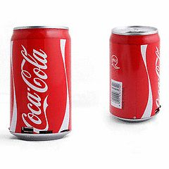 Coca Cola Shape Design Can Audio MP3 Speaker