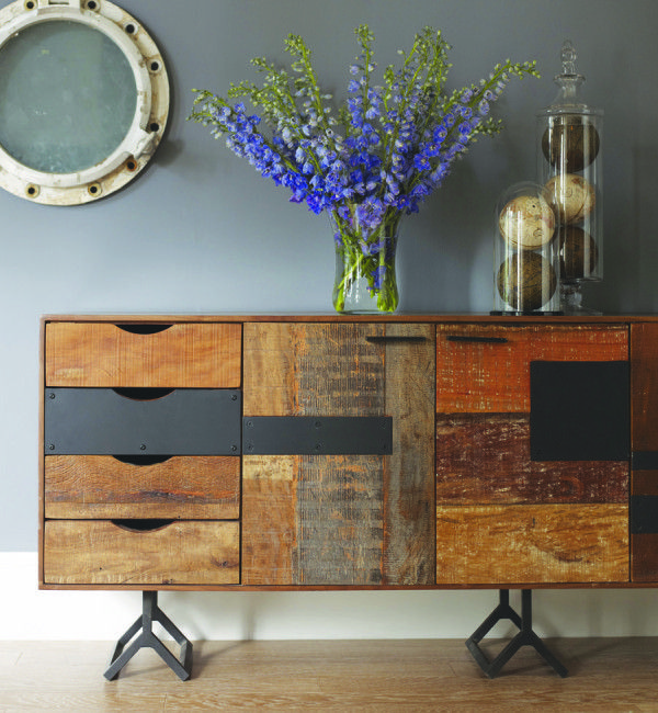 This. From Attica. Want/Need: The Gonzo table is from a collection of sustainable furniture that's hand-crafted from exotic demolition hardwoods