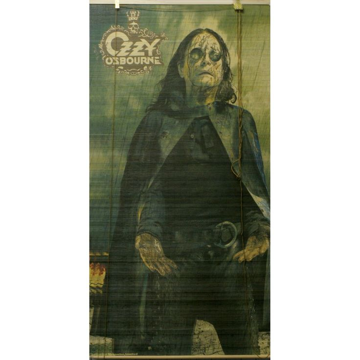 Ozzy Osbourne - Black Rain Bamboo Roll Up Blind