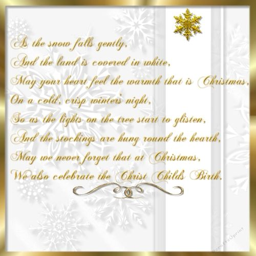 "This is a beautiful insert for my card cup740521_2049. The size of this insert is 7.75""x7.75"" perfect for an 8 inch square card. The verse is lovely and I got it from our own CUP Christmas listing. Thanks for looking, have a Blessed Christmas Season!"