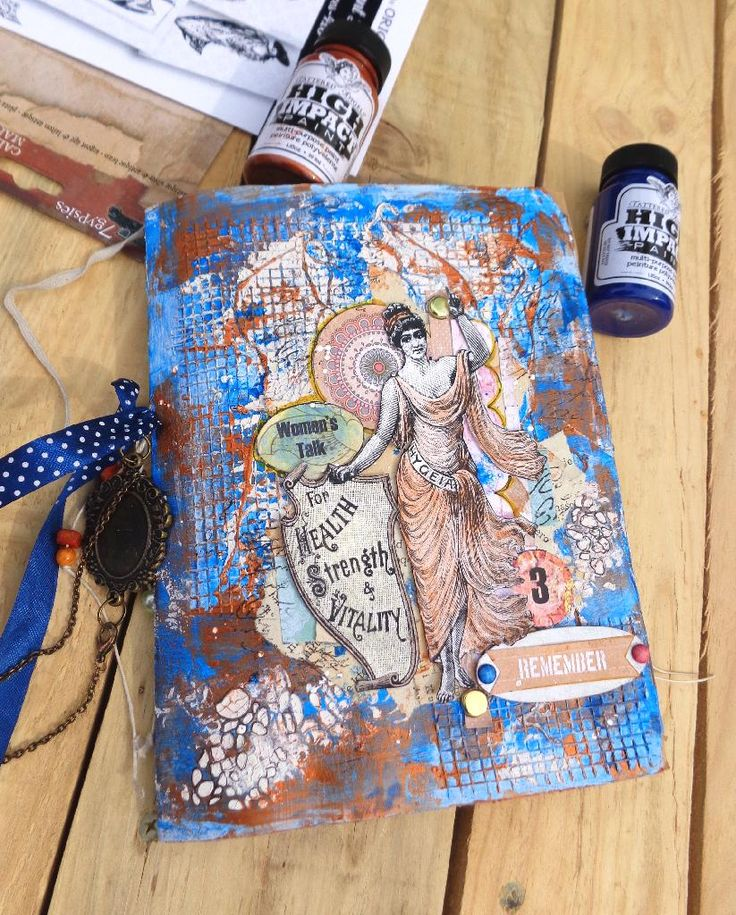Junk Journal cover with CanvasCorpBrands