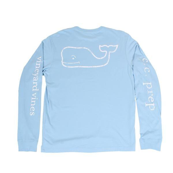 Vintage Whale CC Prep Long Sleeve Tee Shirt in Jake Blue by Vineyard Vines - Country Club Prep