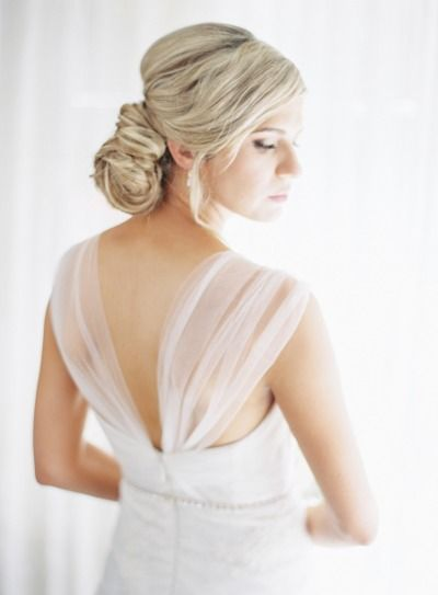 Beautiful bridal updo: http://www.stylemepretty.com/2014/10/27/elegant-summer-black-tie-wedding-in-atherton/ | Photography: Coco Tran - http://www.cocotran.com/