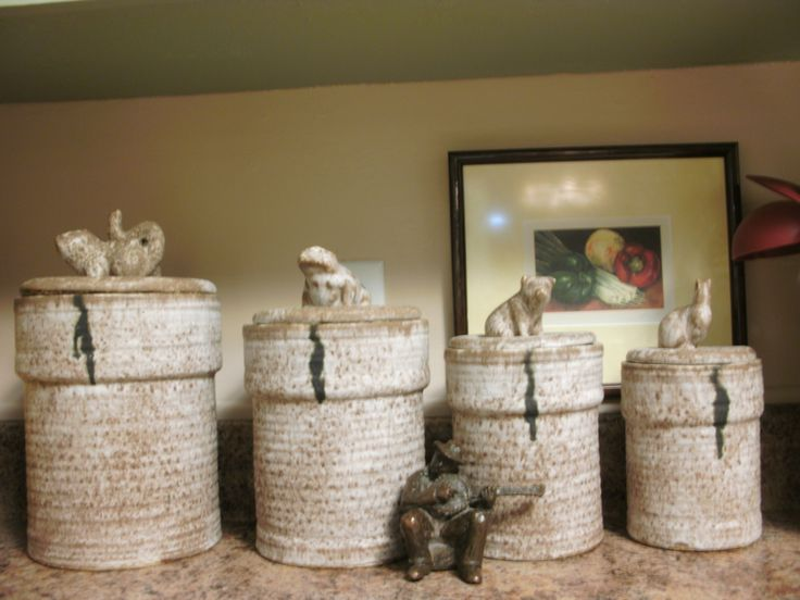 McCarty pottery canister set