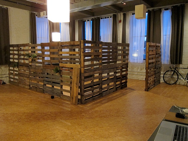 Recycled Palettes For Room Dividers
