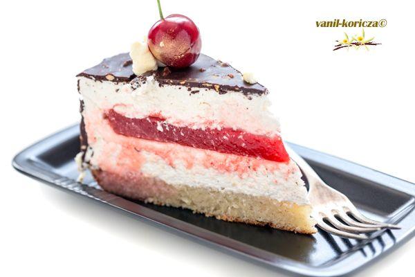 Торт Зефир в шоколаде,разрез
