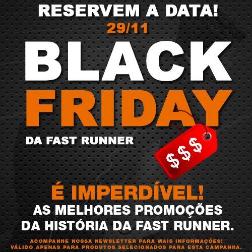 ★ Aproveite a Black Friday na Fast Runner ★ Nesta sexta-feira, dia 29/11, teremos promoções imperdíveis. Você vai se surpreender. Fique ligado!  #BonsTreinos