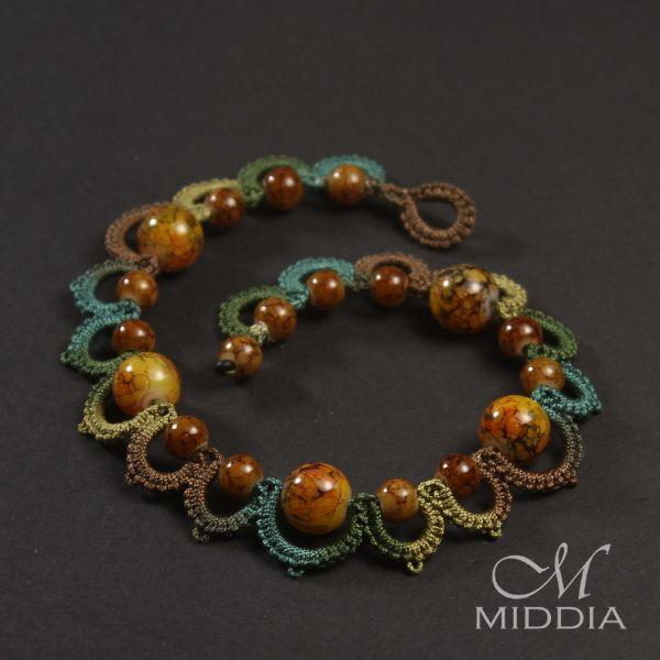 cro-tat bracelet - bransoletka. Needle tatting. Jewelry