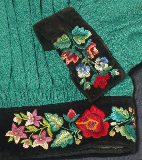 Polish Folk Costume Blouse Embroidered Jacket Łowicz Ethnic Embroidery Poland | eBay