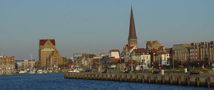 view of the old town of rostock island of r gen 2. Black Bedroom Furniture Sets. Home Design Ideas