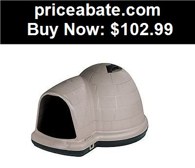 Animals-Dog: Igloo Dog House Medium Microban Insulated Indoor Outdoor Shelter Pet All Weather - BUY IT NOW ONLY $102.99