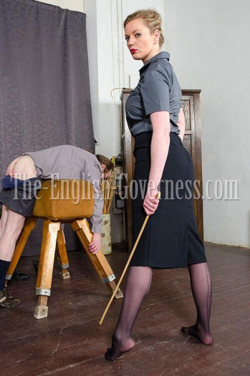 Jenkins' spanking will be so severe that Mrs Reynolds has even taken off her shoes to carry it out!