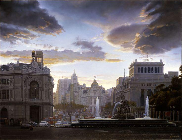 26Cielo de Madrid. ( Oleo sobre lienzo. 89x116 cm.) oil on canvas by Modesto Trigo