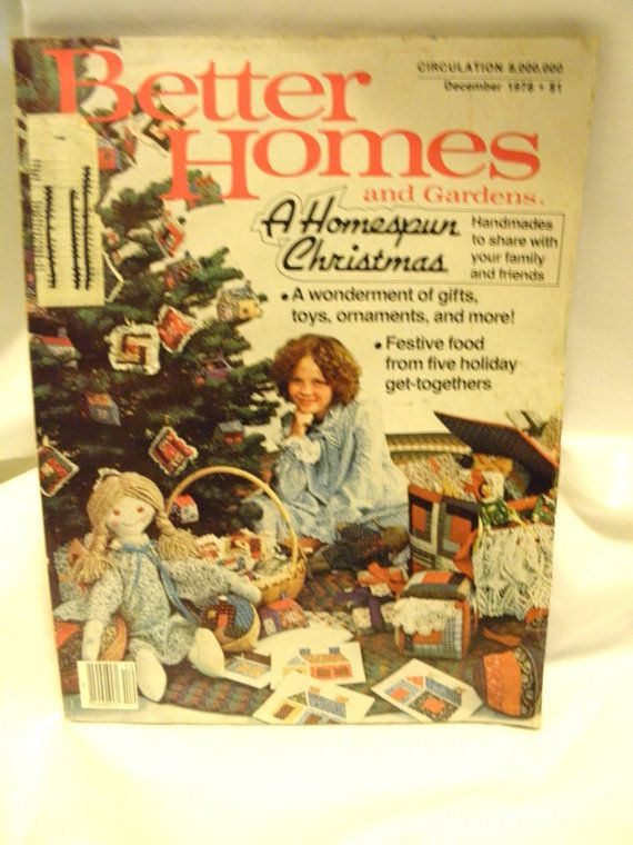 Good Better Homes And Gardens Craft Ideas Part - 6: Better Homes And Gardens December 1978 - A Homespun Christmas